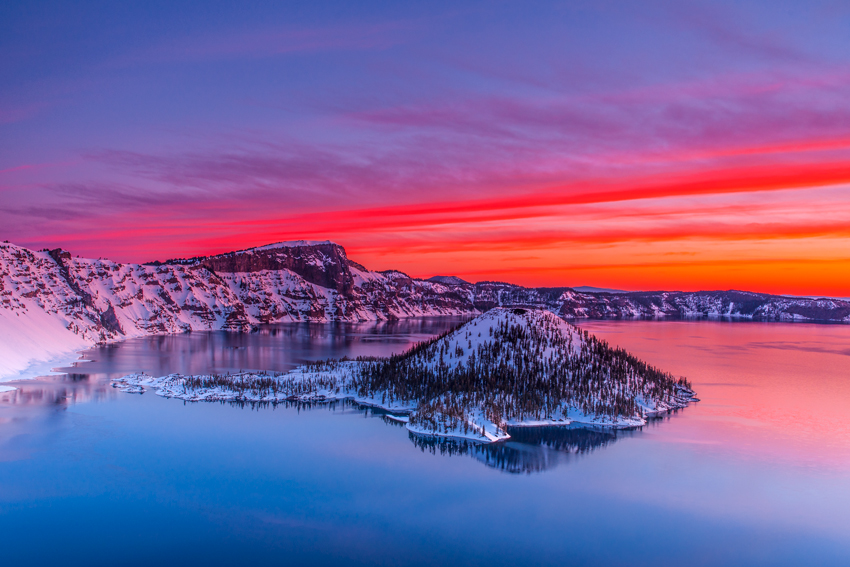 Crater Lake National Park Oregon Wizard Island Fine Art Landscape Photography Mark Lilly