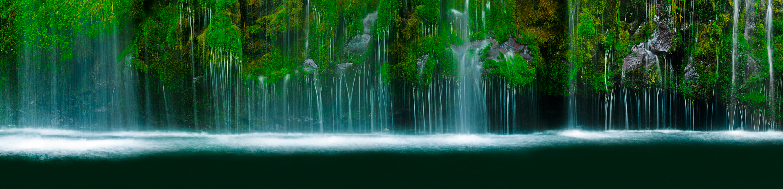 Mossbrae Falls Siskiyou County Dunsmuir Sacramento River Shasta Cascade California Waterfall Panorama Fine Art Landscape Photography Mark Lilly