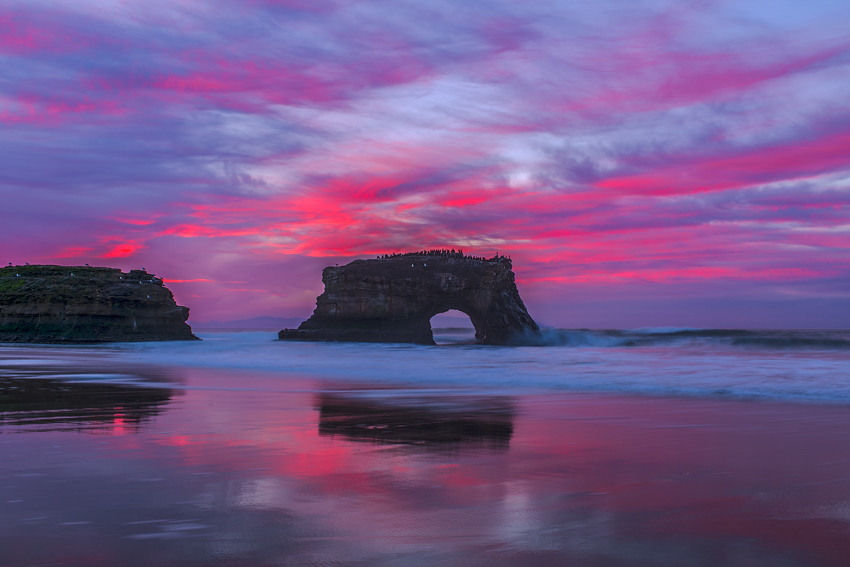 Natural Bridges State Beach Park California Santa Cruz Oceanscape Sunrise Fine Art Landscape Photography Mark Lilly